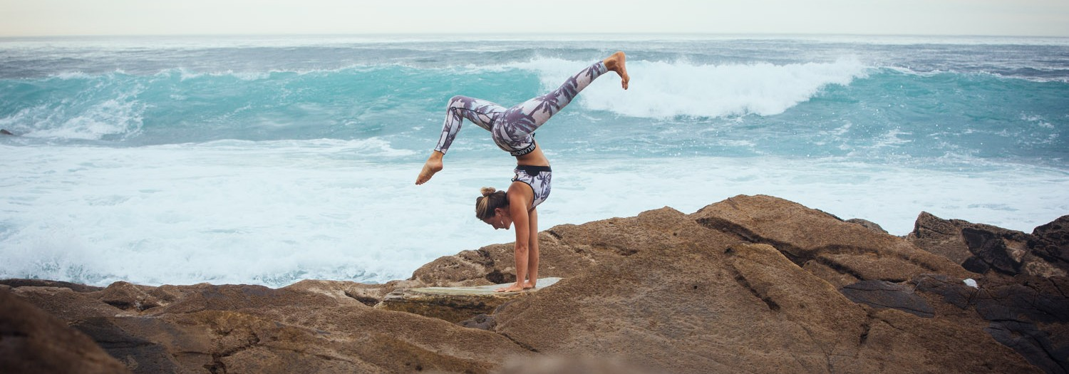 Billabong active wear with Caroline's Yoga