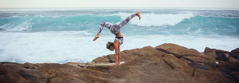 Billabong active wear with Caroline's Yoga